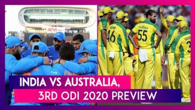 IND Vs AUS, 3rd ODI 2020 Preview: India, Australia Battle for Series Win